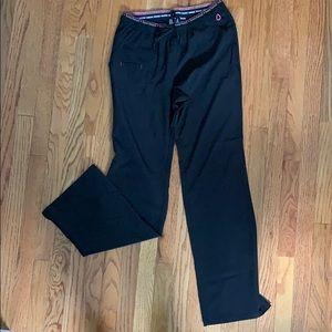 Heart soul black scrub pants